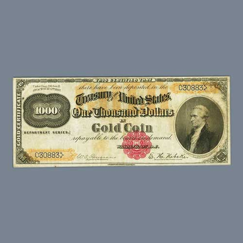 Heritage's-FUN-Currency-Auction-Features-1882-Gold-Certificate