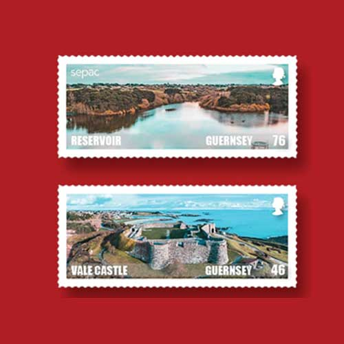 Mind-Blowing-Aerial-Shots-of-Guernsey's-Scenic-Beauty-Captured-on-Postage-Stamps