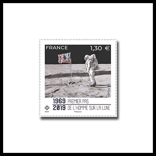 Stamps-from-France,-Monaco-and-Spain-Celebrate-the-50th-Anniversary-of-Apollo-11-Mission