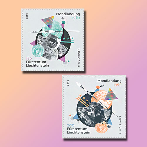 Stamps-from-Liechtenstein-and-Liberia-Celebrate-Apollo-11-Mission