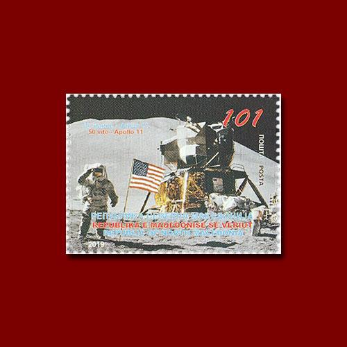 Macedonian-Stamp-Celebrates-50th-Anniversary-of-Apollo-11-Landing