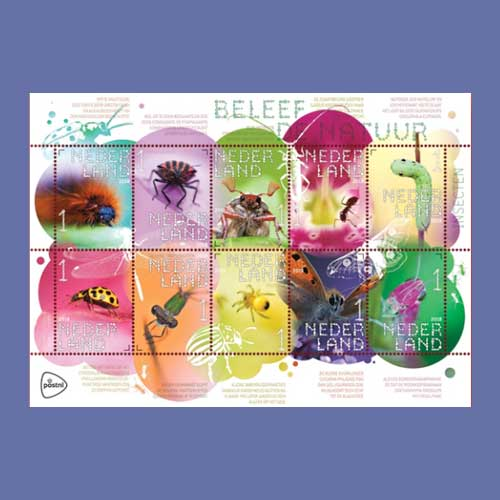 Insects-Shown-on-Latest-Stamps-of-Netherlands