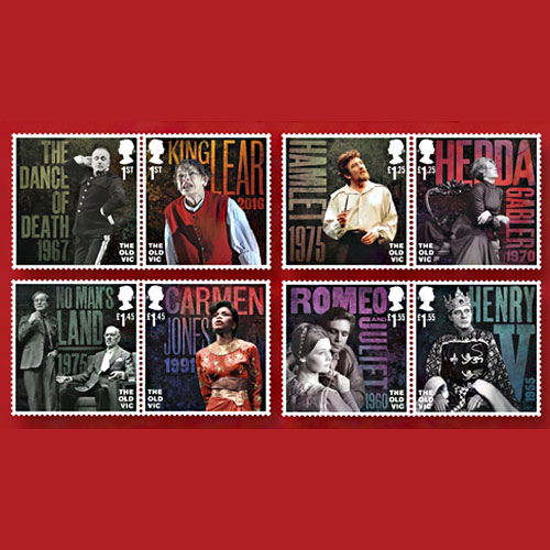 200th-Anniversary-of-London's-Old-Vic-Theatre-Celebrated-on-Stamps