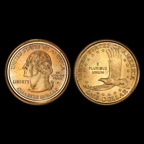 Newly discovered sacagawea dollar washington quarter mule mintage world - Coin de finition plinthe ...