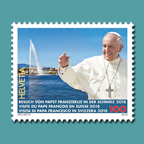 Swiss-stamp-Dedicated-to-Papal-Visit