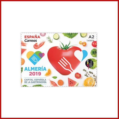 Heart-Shaped-Tomato-on-Latest-Spanish-Stamps