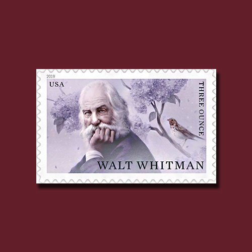 Postage-Stamp-Celebrates-200th-Birth-Anniversary-of-Poet-Walt-Whitman