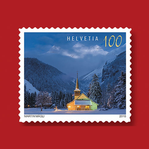 Beauty-of-Blue-Hour-Highlighted-on-Latest-Swiss-Christmas-Stamps