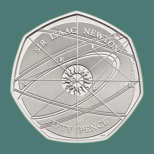 2018-Sir-Isaac-Newton-50p-Coins-in-Demand