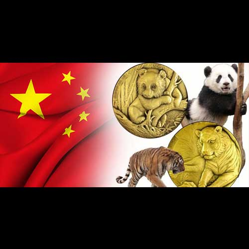 Hoopoe,-Panda-and-Siberian-Tiger-on-Chinese-Coins