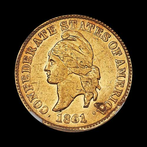 Gold-Confederate-Cents-Restrike-to-be-Auctioned