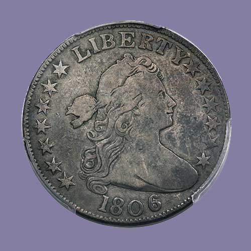 Rare-Knob-6,-No-Stem-1806-Bust-Half-Dollar-to-be-Auctioned