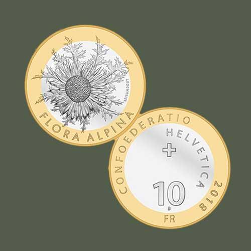 Alpine-Flower-on-Swiss-Coins