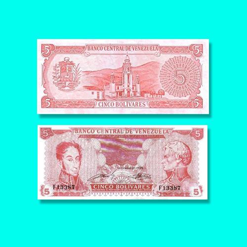 5-Bolivar-Note-of-Venezuela