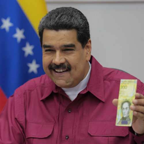 Venezuela's-Maduro-Launches-New-100,000-Bolivar-Banknote