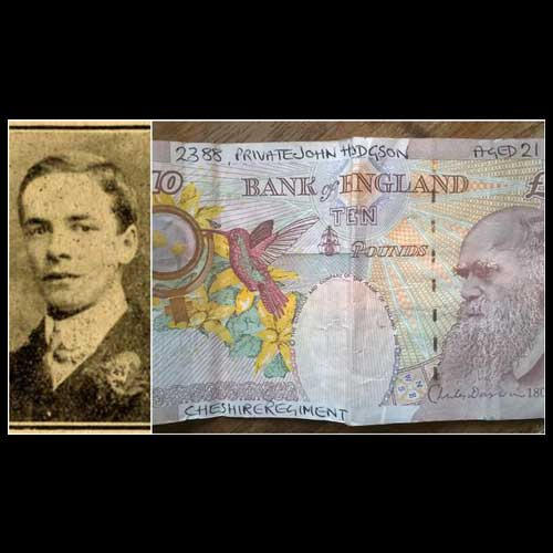 Man-Prints-Names-and-Details-of-Macclesfield-War-Martyrs-on-Banknotes