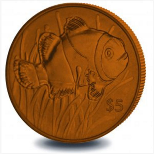 Titanium-Coin-Featuring-Clownfish