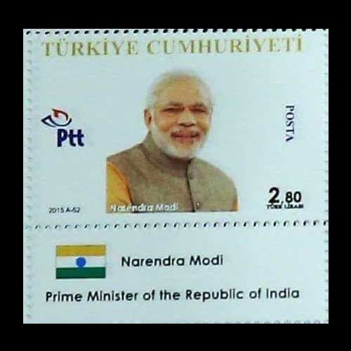 Turkey-Releases-Stamp-Featuring-Narendra-Modi