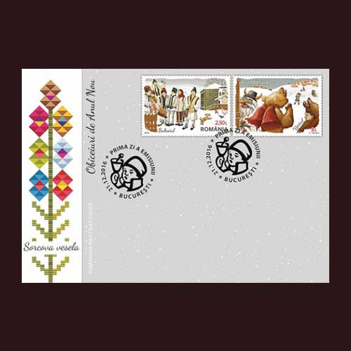 Romania's-New-Year-Stamps-Celebrate-Ancient-New-Year-Traditions