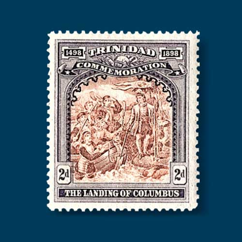 1898-Trinidad-Stamp-Featuring-Columbus-in-Demand