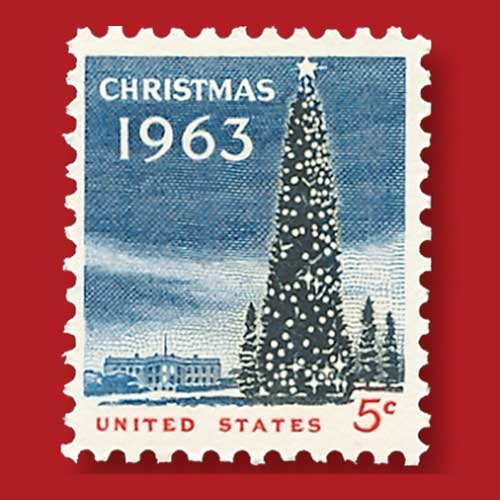 National-Christmas-Tree-on-1963-5¢-Postage-Stamp
