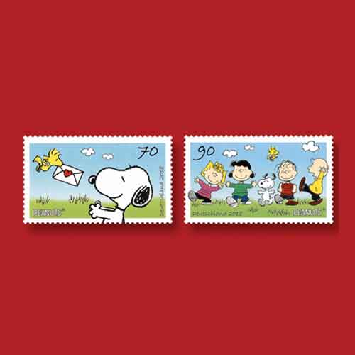 Peanuts-Comic-Characters-on-Latest-German-Stamps
