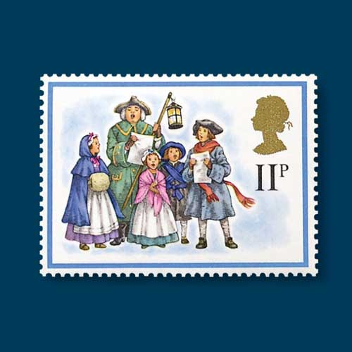 Christmas-Stamps-Featuring-Carollers