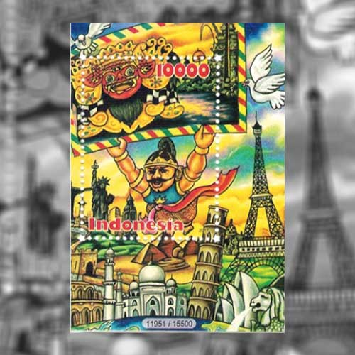 International-Project-Called-Postcrossing-Celebrated-on-Indonesian-Souvenir-Sheet