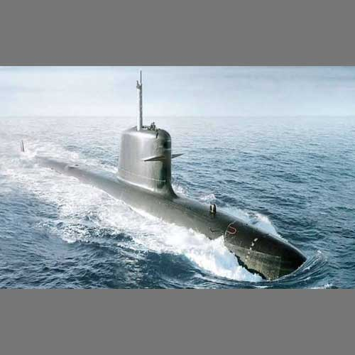 INS-Kalvari-Submarine-on-Postage-Stamps