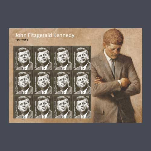 JFK-Stamp-Panel-to-Celebrate-the-President's-100th-Birthday