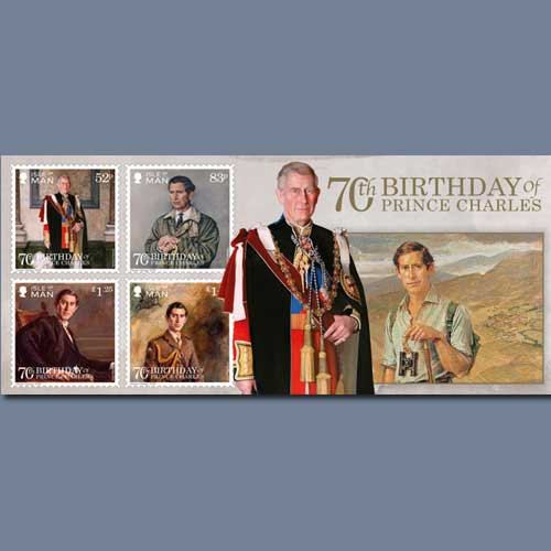 70th-Birthday-celebrated-on-Isle-of-Man-stamps