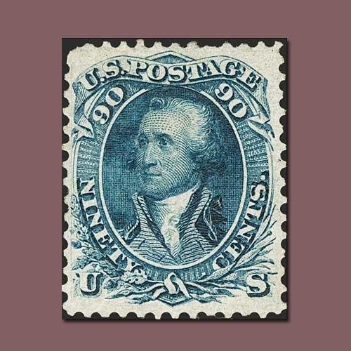 90c-blue-first-design-stamp