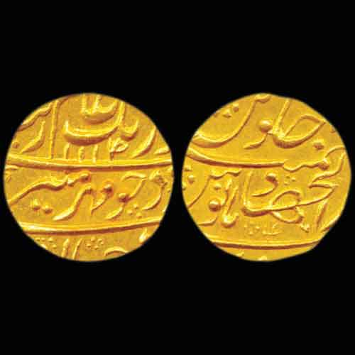 Aurangzeb's-Gold-Mohur-Sold-for-INR-70,000