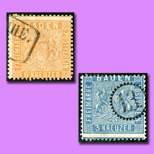Coat-Of-Arms-Stamps-of-Duchy-of-Baden