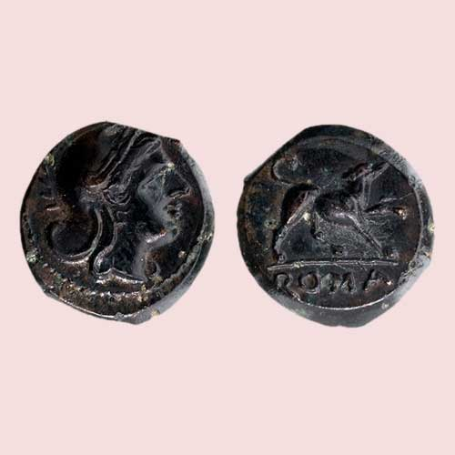 Dog-on-Roman-coins