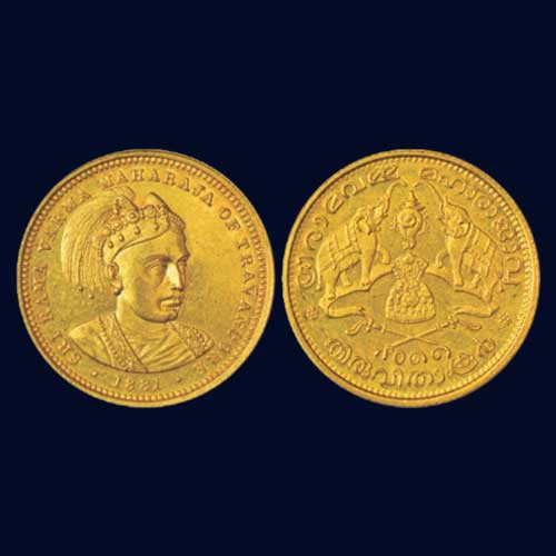 Gold-sovereign-of-Travancore-