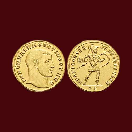 Gold-Coin-of-Roman-Emperor-Maxentius-Auctioned