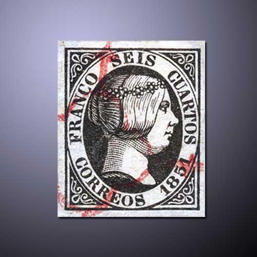 Queen-Isabella-II-Stamps