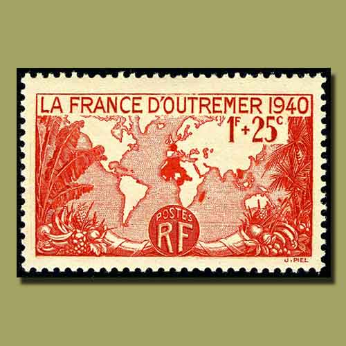 A-Stamp-That-Shows-the-Extent-of-French-Empire