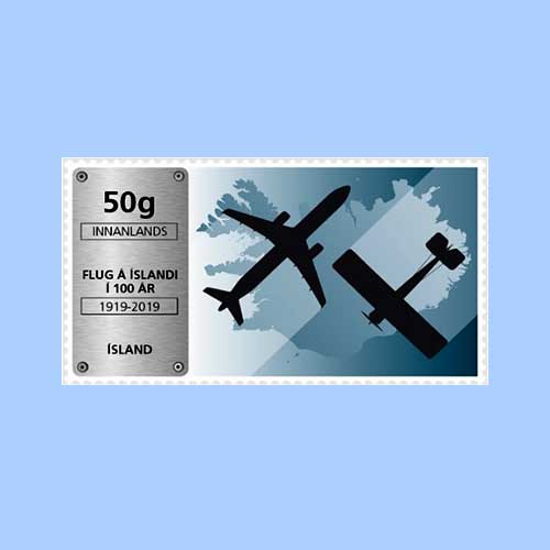Airplane-on-stamp