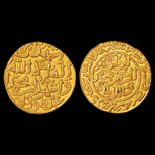 Al-Wathiq-type-gold-Dinar-of-Muhammad-bin-Tughlaq