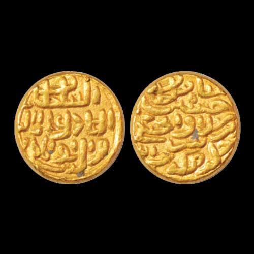 Ala-ud-Din-Husain-Shah's-gold-Tanka-of-Khazana-mint