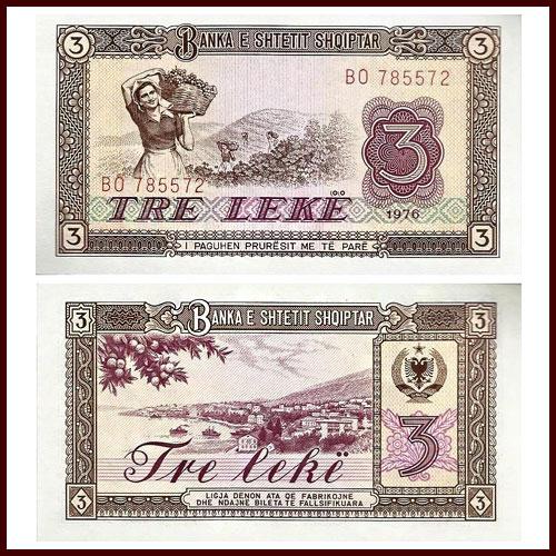 Albania-3-Leke-banknote-of-1976