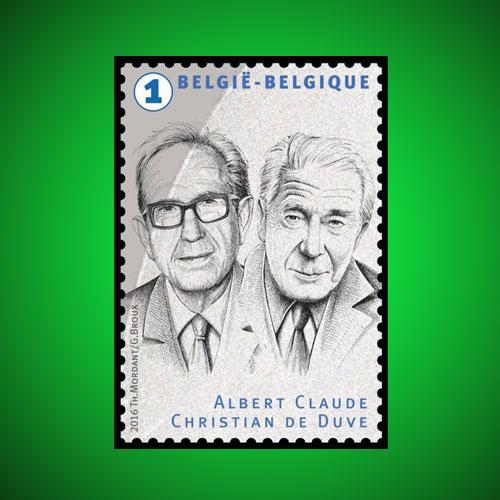 Albert-Claude-honored-on-Belgium-stamp