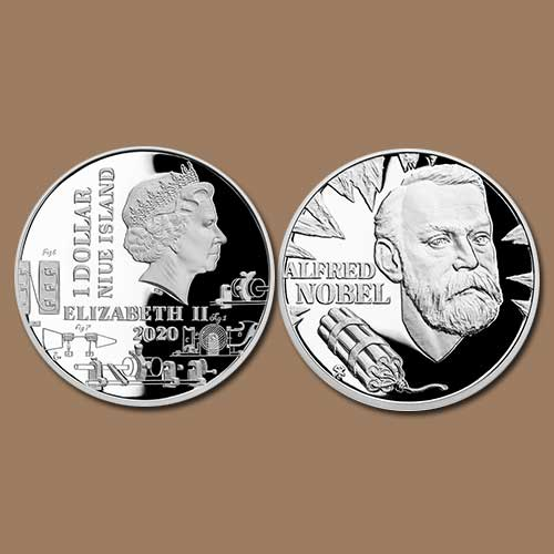 Alfred-Nobel-featured-on-a-Niue-Coin