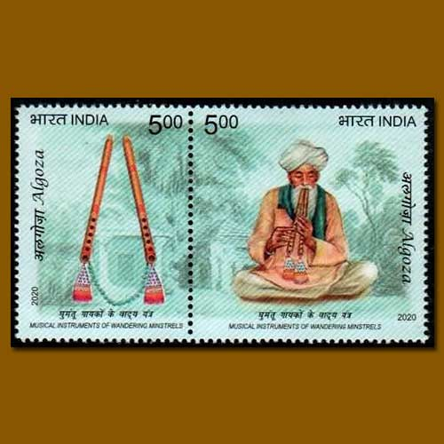 Alghoza-featured-on-Indian-Stamp