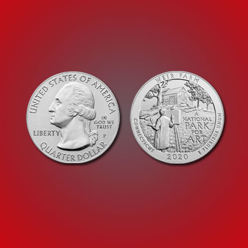 America-issues-coin-honouring-Weir-Farm-National-Historic-Site