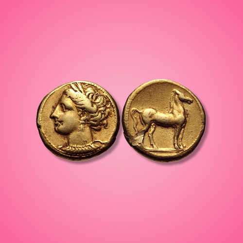 An-electrum-Carthaginian's-coin-bears-Goddesses-Tanit-and-Horse