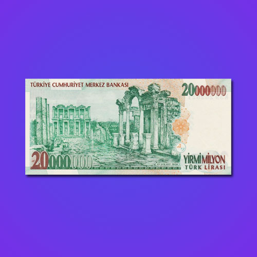 Ancient-Library-on-Turkish-Banknote