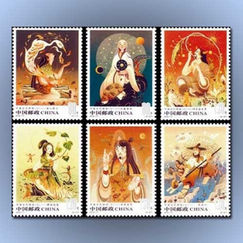 Ancient-Mythology-illustrated-on-Chinese-stamps